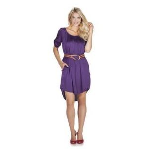 Jessica Simpson Belted High Low Dress